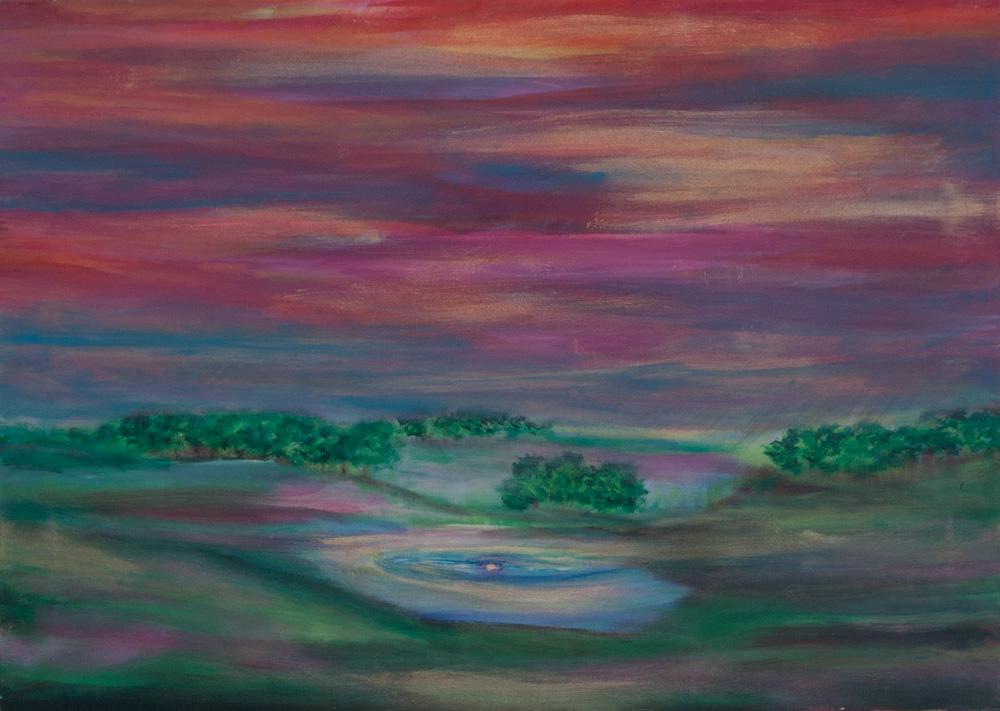 Emotioneel landschap 70 x 50 cm, acryl op doek € 500,-