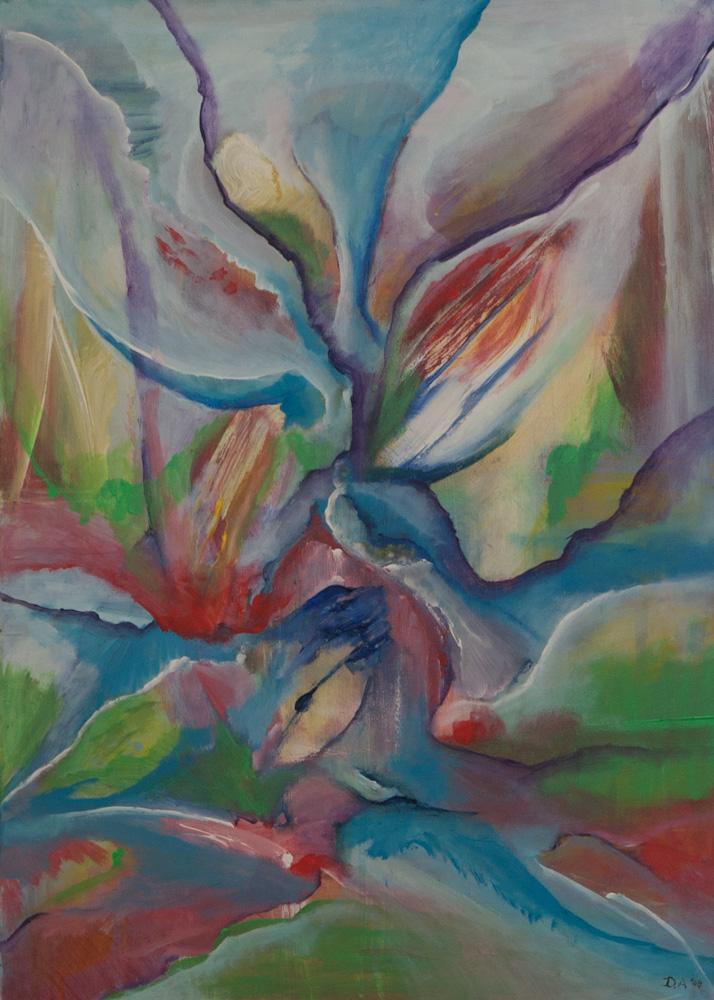 Vruchtbaar landschap, 50 x 70 cm, acryl op doek. € 495,-