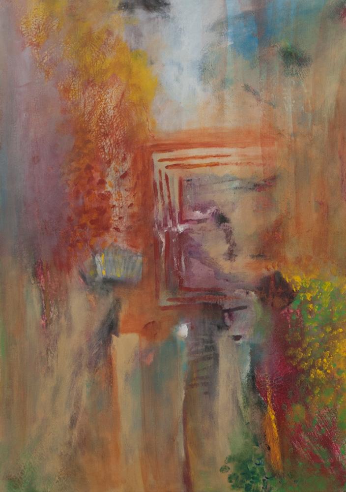 Naar het altaar, 70x50, acryl op doek, € 700,-