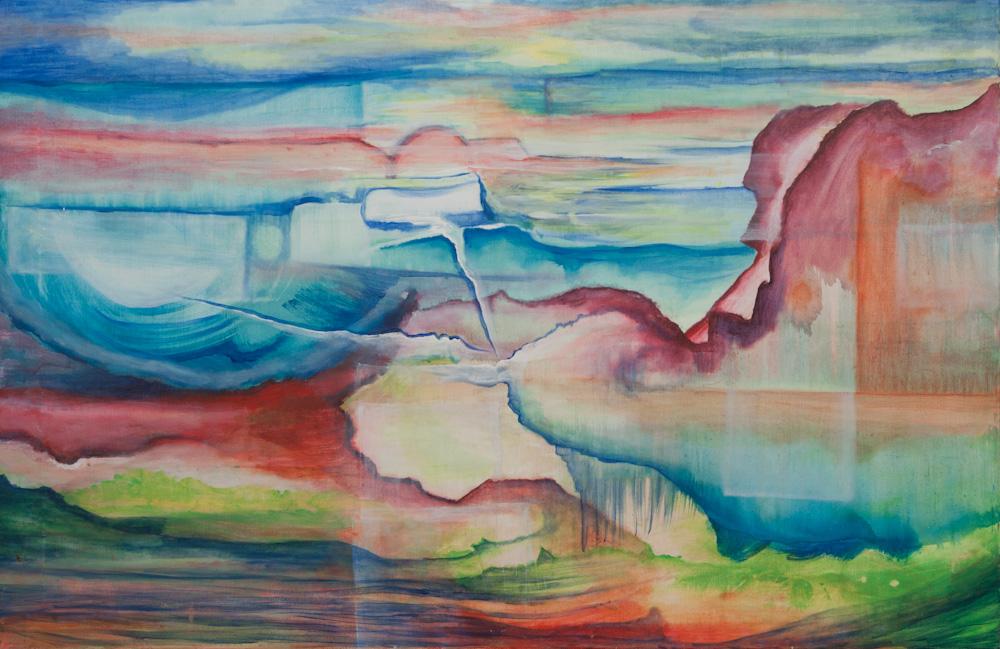Het innerlijk pad, 130 x 85, acryl op doek, € 995,-
