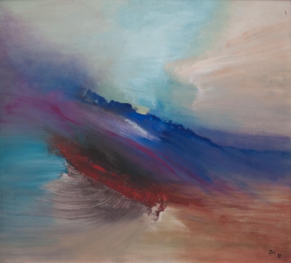Aurora, 100x90, acryl op board,€ 700,-