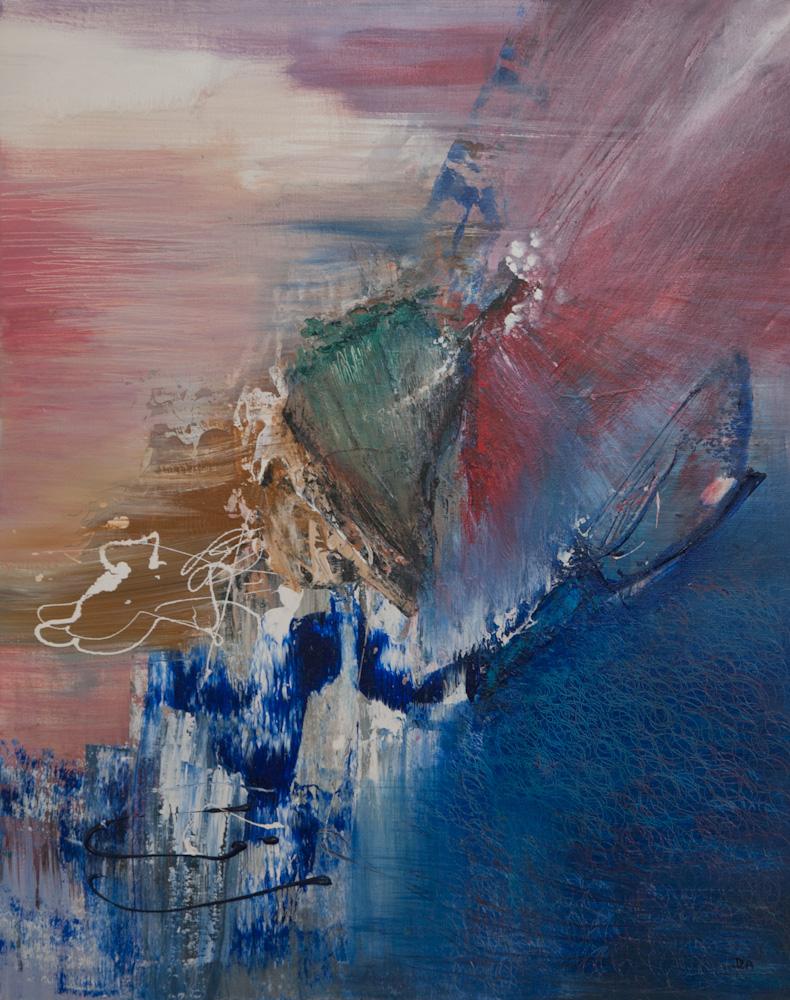 De getijden van het leven, 100x80, acryl op doek, € 995,-