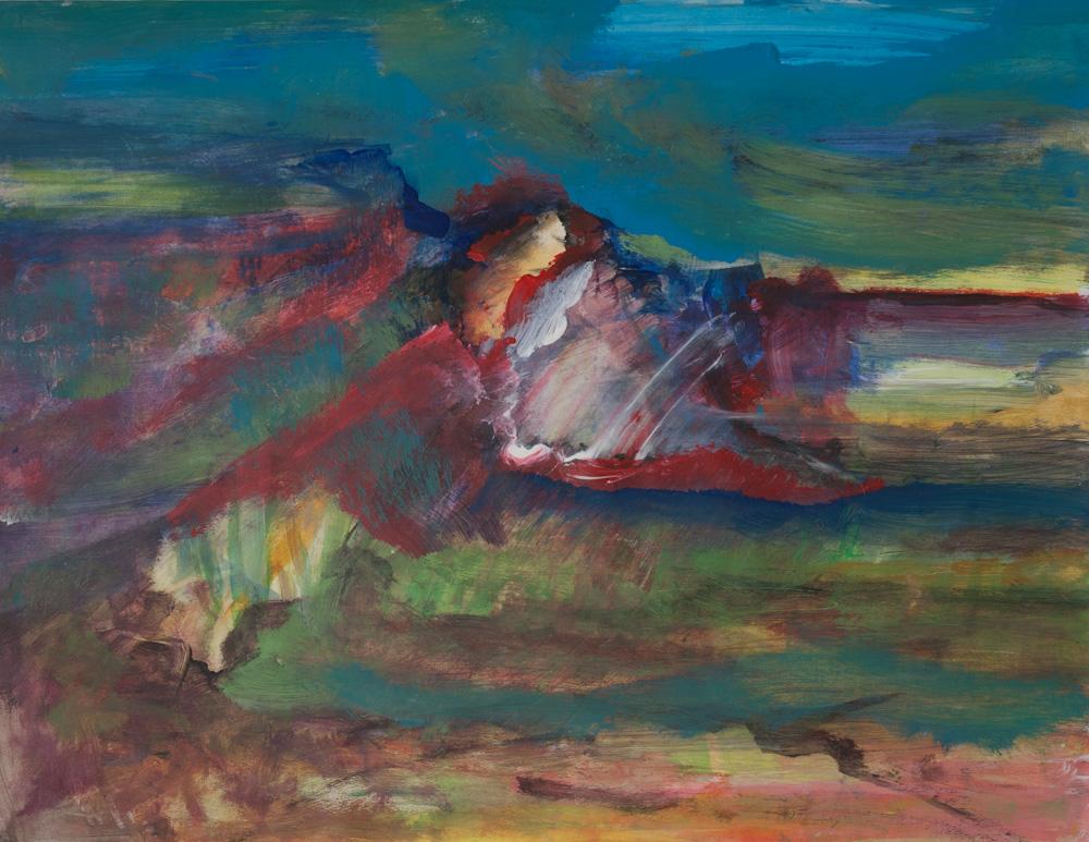 Emotioneel landschap 3, 65x50, acryl op papier, € 275,-