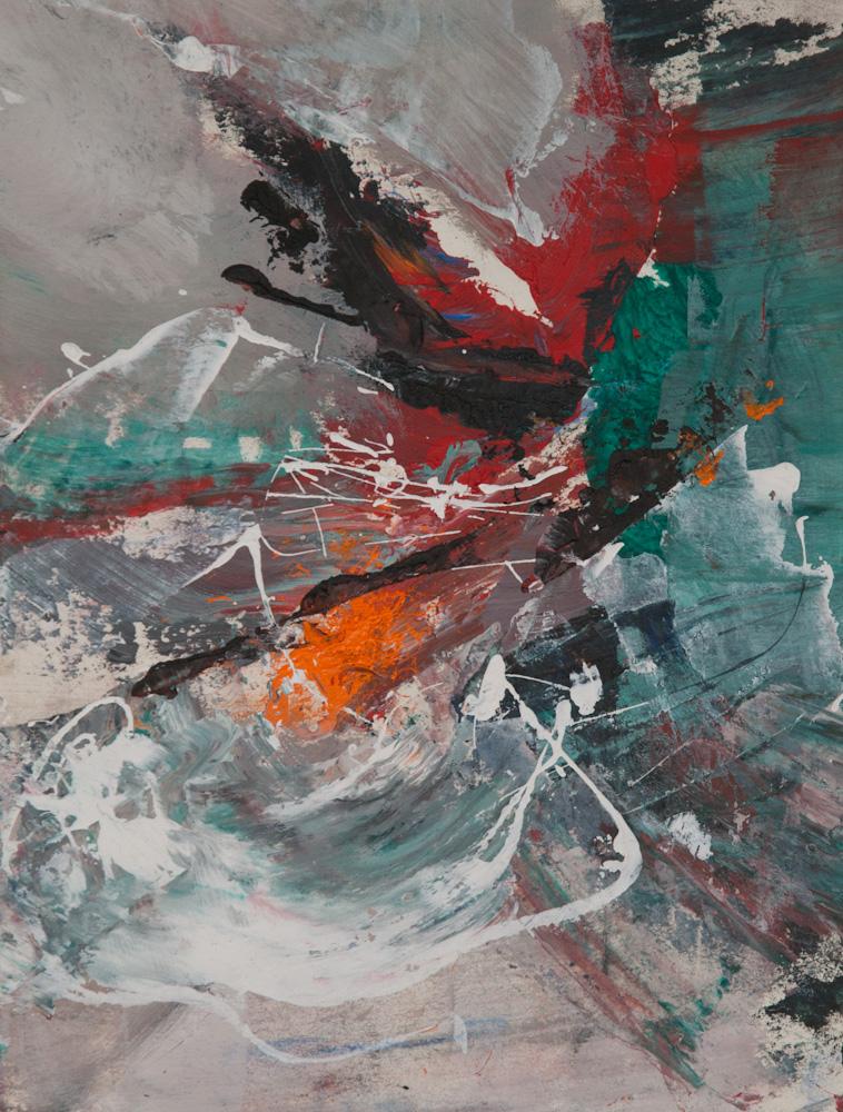 uit de serie: werken van Hercules, 32x24, acryl op papier, € 175,-