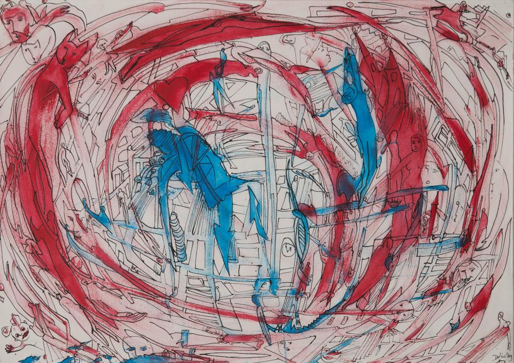 uit de serie: Openbaringen, 42x30, acryl op papier, €200,-