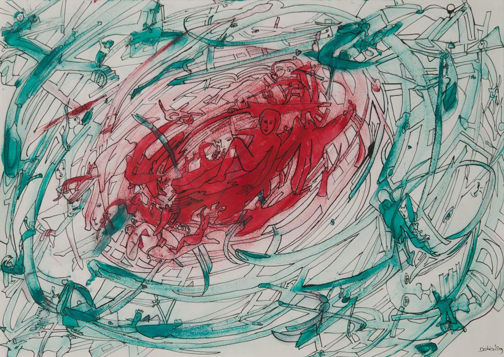 uit de serie: Openbaringen, 42x30, acryl op papier € 200,-