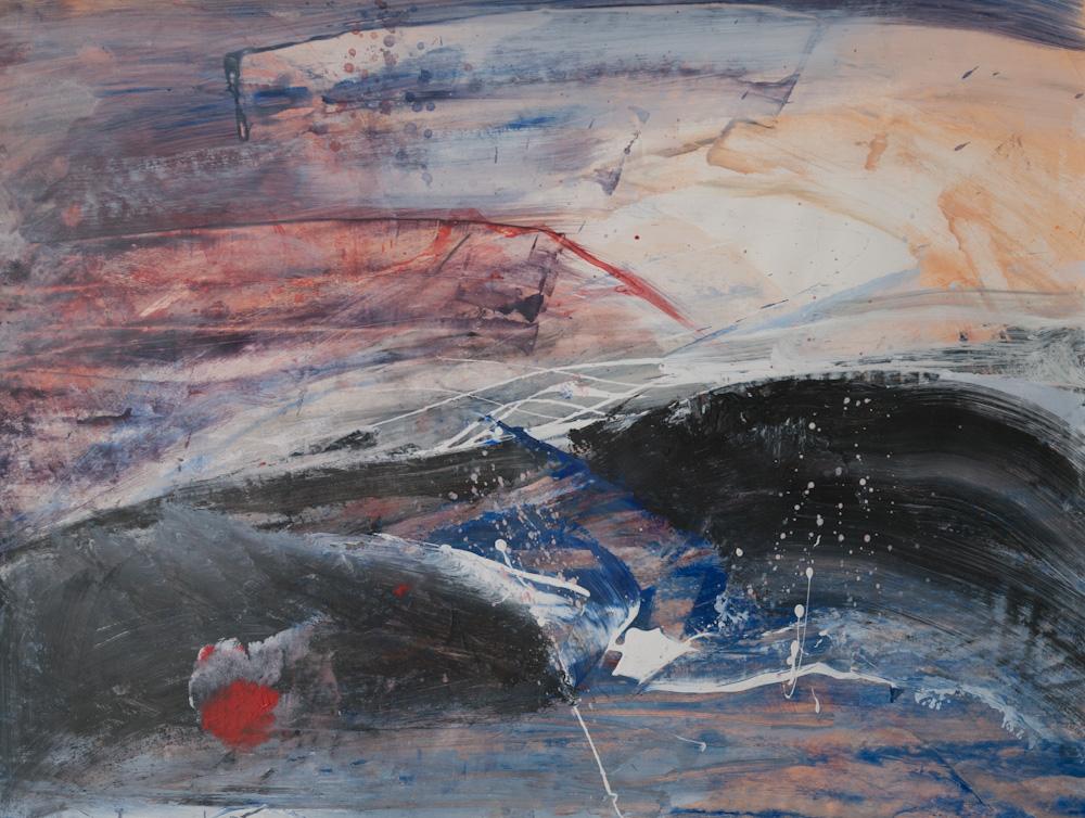 Emotioneel landschap, 65x50, acryl op papier, € 275,-