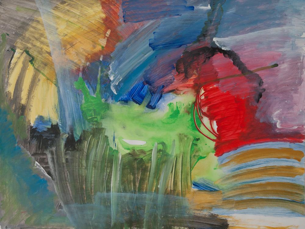 Emotioneel landschap 2, 65x50, acryl op papier, € 275,-