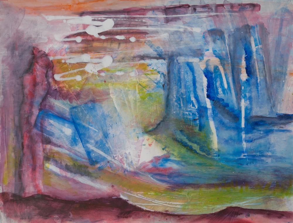 Blauwdruk, 65x50, acryl op papier, € 275.-