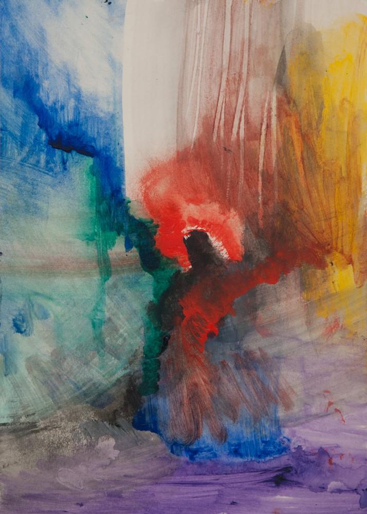 Homo universalis, 42x30, acryl op papier, € 175,-