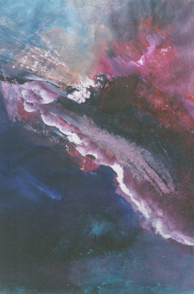 Passiebloem, acryl op papier, 65 x 50 cm. € 250,-