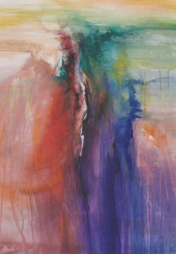 Het mysterie van de natuur II, acryl op linnen, 100 x 80 cm.