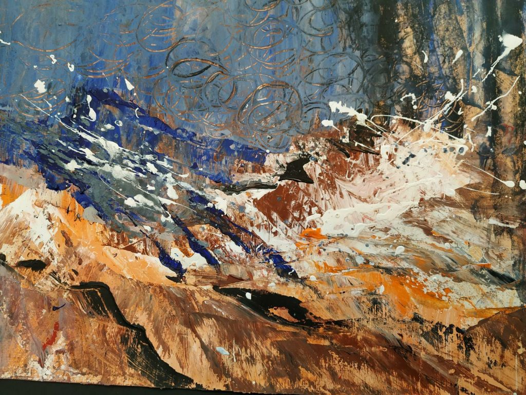 Aardekracht - 42 x 30 - Acryl op papier