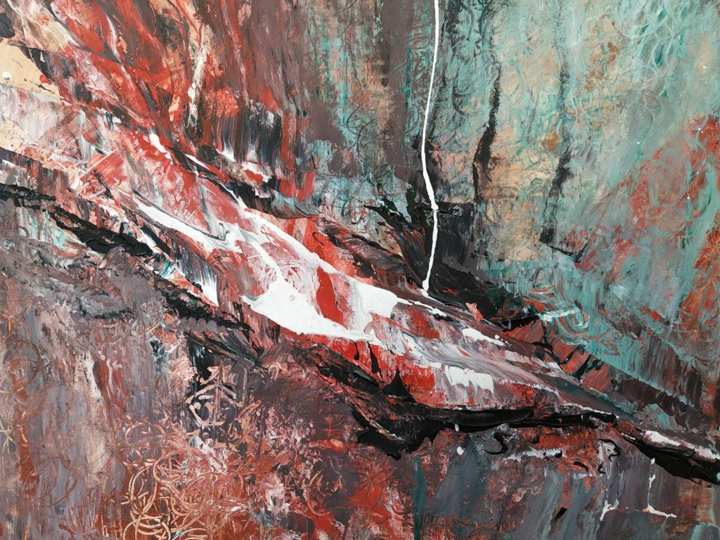 Aardekracht II - 42 x 30 - Acryl op papier
