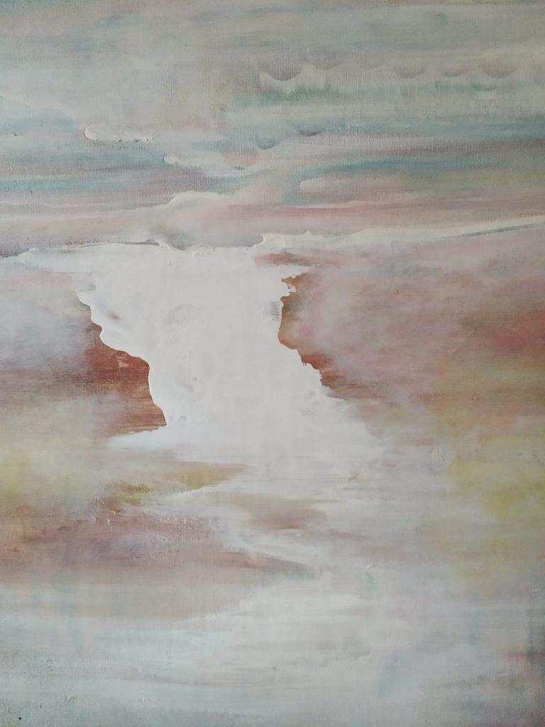 De stroom - 40 x 50 - Acryl op doek