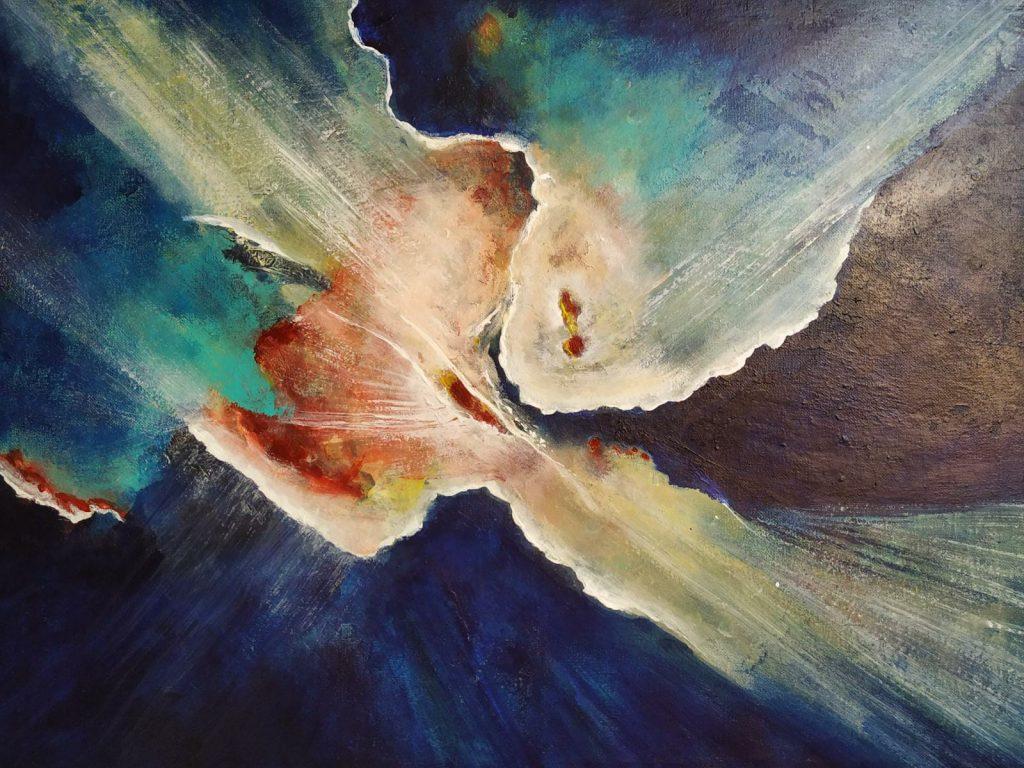Het hart van het universum - 60 x 50 - Acryl op doek