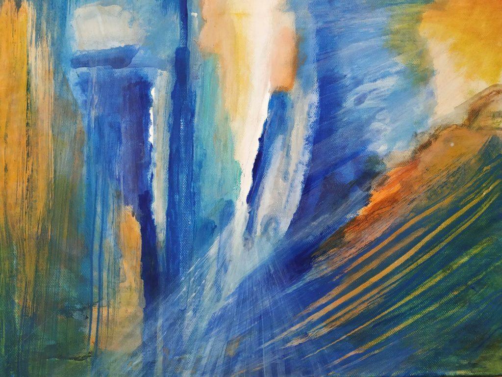 In de tempel - 40 x 30 - Acryl op doek