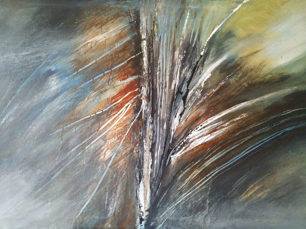 In het bos - 120 x 80 - Acryl op doek