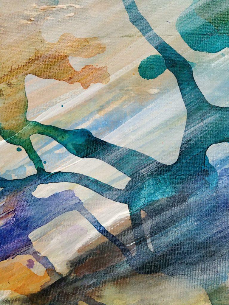 Lichtinval II - 20 x 20 - Acryl op doek