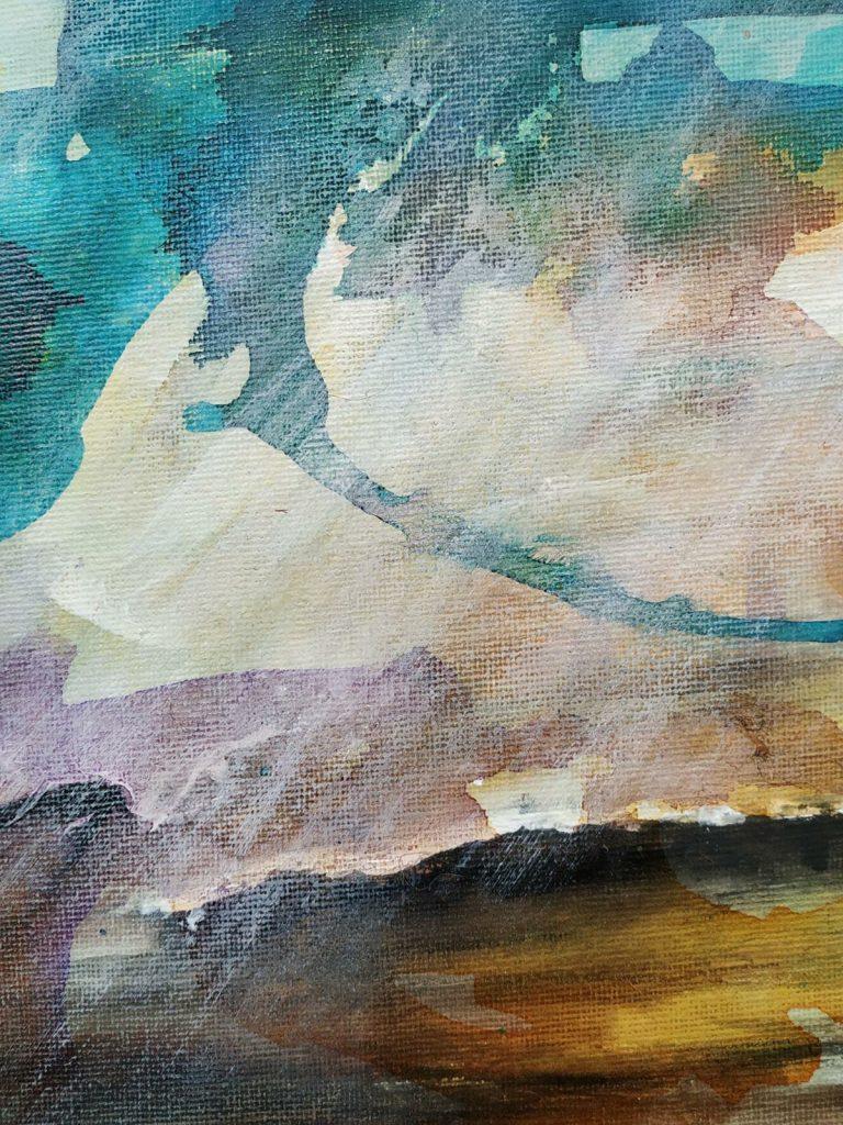 Lichtinval III - 20 x 20 - Acryl op doek