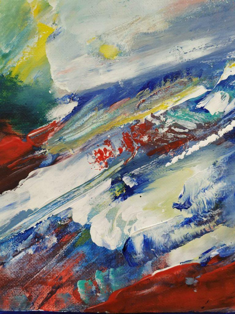 Natuurkracht - 20 x 20 -Acryl op doek