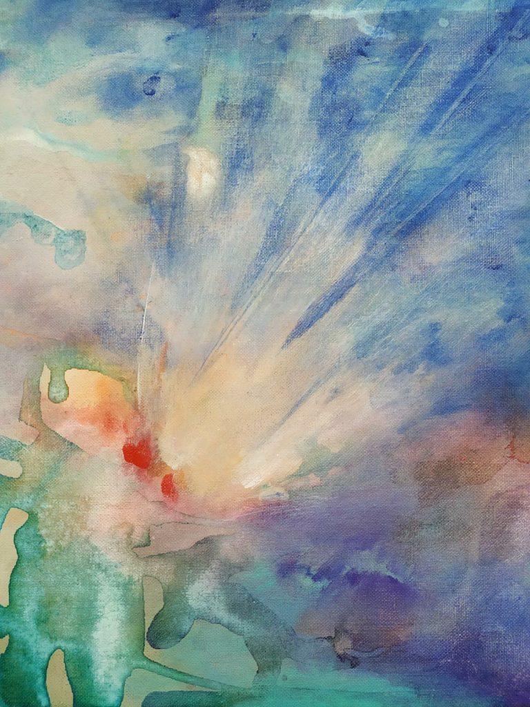 Vreugdevuur - 40 x 40 - Acryl op doek