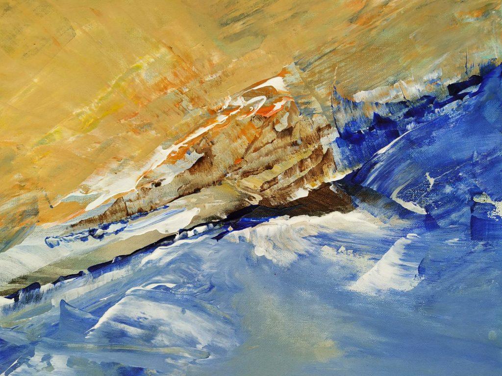Waterkracht - 40 x 30 - Acryl op doek